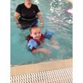 Poppy enjoying swimming