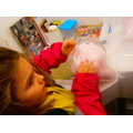 Molly gained sensory experience feeling candyfloss