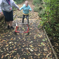 Liliana doing amazingly well walking in forest school