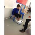Tolaz enjoys sensory sessions inbetween tasks.