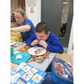 Joseph tasting new foods