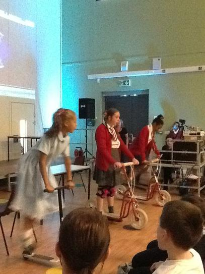 Past pupils performing with their new school group