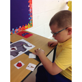 Callum following instructions during literacy