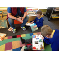 The pupils show interest in books.