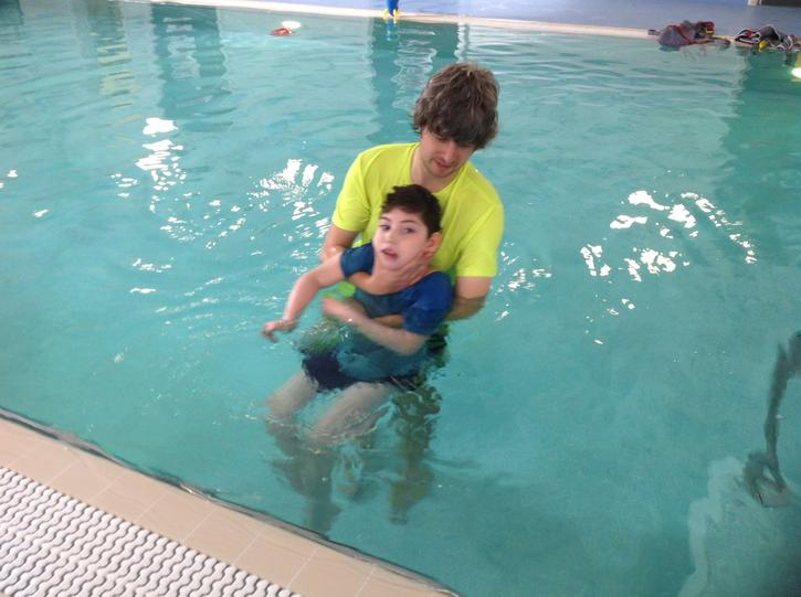 Jake loves his sensory swimming sessions with Nick