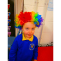 We loved dressing up like clowns