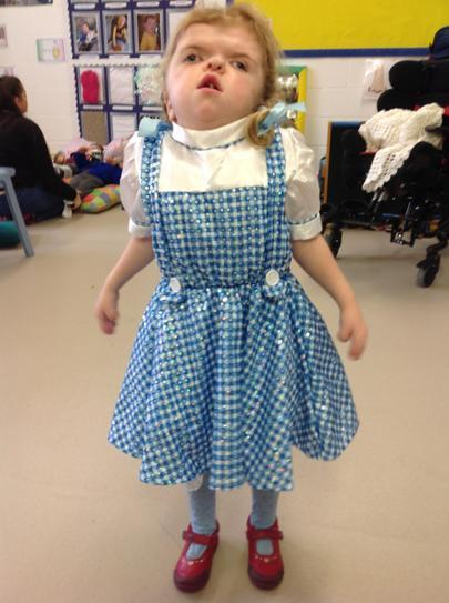 Millie dressed as Dorothy from the Wizard of Oz
