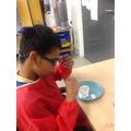 Ahmed loved the shaving foam!