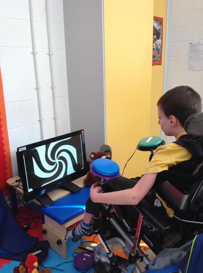 Joe enjoys big bang on the computer.