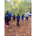 The children enjoyed singing songs in the woods.