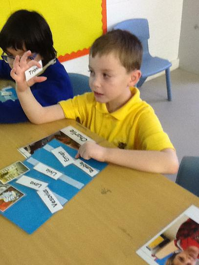 Charlie making choices independently during story.