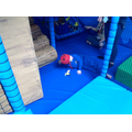 Sian had great fun climbing in the soft play area