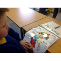 Leo matched labels on Pinocchio.