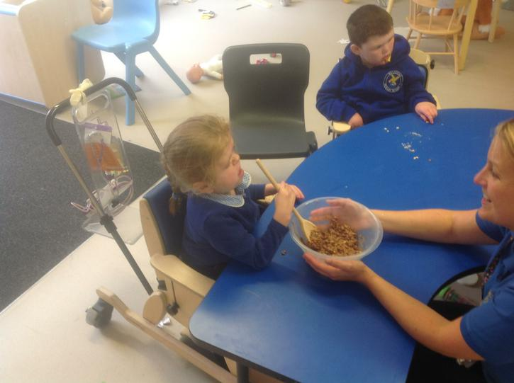 Cooking in Oak class.