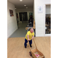 am walking independently
