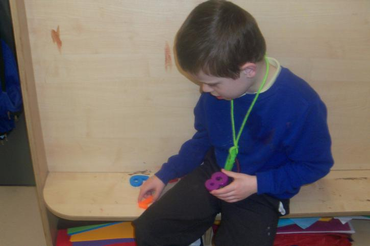 Oliver using the magnetic numbers