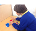 Tolaz sorted coloured counters independently.