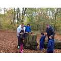 The children felt the texture of the bark.