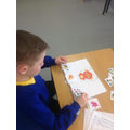 Leo was able to create sentences independently.