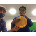 Ahmed enjoyed exploring different circle objects.