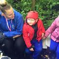 Callum enjoying forest school