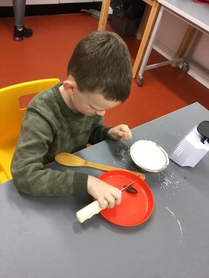 Making cake for our Christmas Markets.