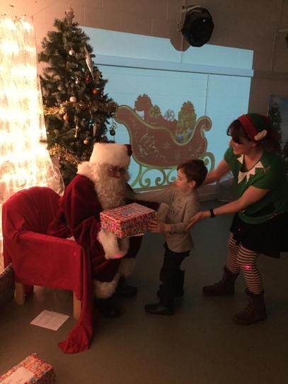 Ellis and Father Christmas.