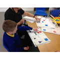 Leo identified the shapes he sorted.