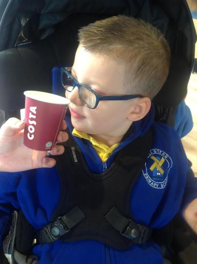 During a trip to our local shops we went to Costa