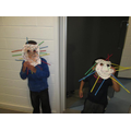 Displaying their masks around school