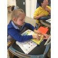 Liliana using colourful semantics in literacy