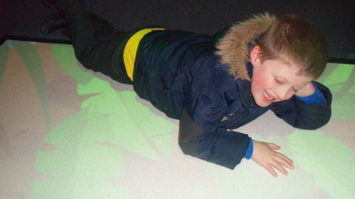 Alfie enjoyed catching snakes in the museum