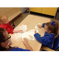 Poppy and Ruby enjoying sensory play