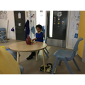 Kallum learning to work independently