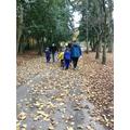 We enjoyed crunching the leaves as we walked.