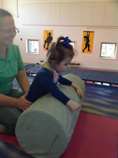 Hallie learning to kneel