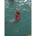 Ruby enjoying swimming