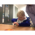 Theo enjoyed exploring different objects that were circles.