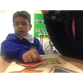 Assen was able to complete the jigsaw and explore all the shapes.