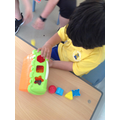 Muizz named the shapes during this activity!