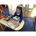 We have different role play areas. We have a farm shop just now.