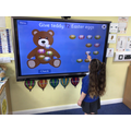 I always want to play games on the interactive whiteboard.