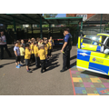 We also had a visit from 2 Police Officers.