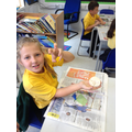Fossils with salt dough