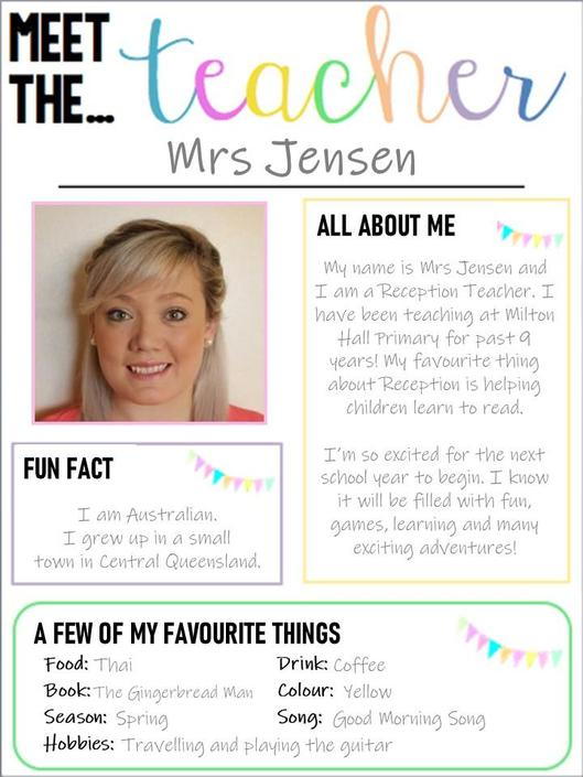 Mrs Jensen in Donaldson Class