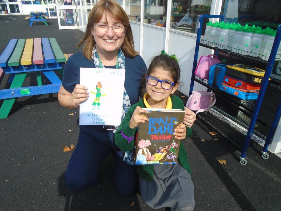 Maria was awarded the 'Roald Dahl Treasury' book