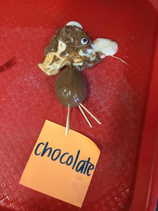 Chocolate eggs melt as well!