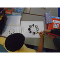 We used Oreo cookies to make the moon phase cycle.