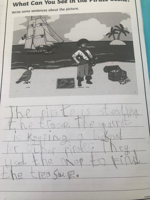 Pirate writing.