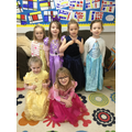 The princesses on World Book day